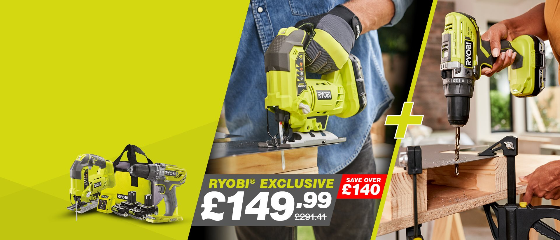18V Jigsaw and Drill Twin Kit