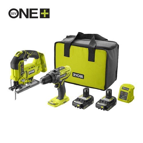 18V ONE+™ Cordless Combi Drill & Jigsaw Starter Kit (2 x 2.0Ah)