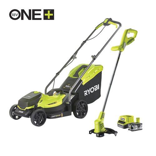 18V ONE+™ Cordless 33cm Lawnmower & 25cm Grass Trimmer (1 x 4.0Ah)